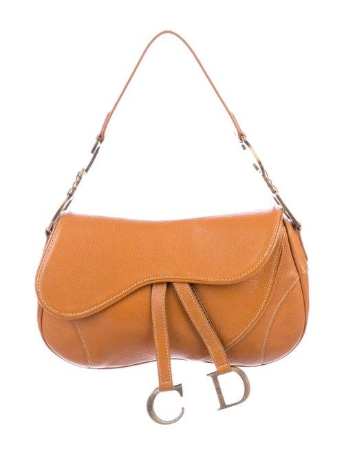 Christian Dior Vintage Saddle Bag Brown