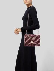 Christian Dior Velvet Oblique Diorama Shoulder Bag