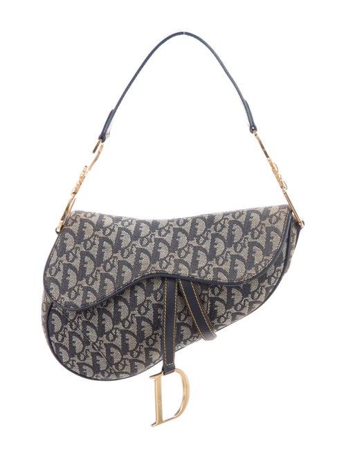 Christian Dior Diorissimo Saddle Bag Blue