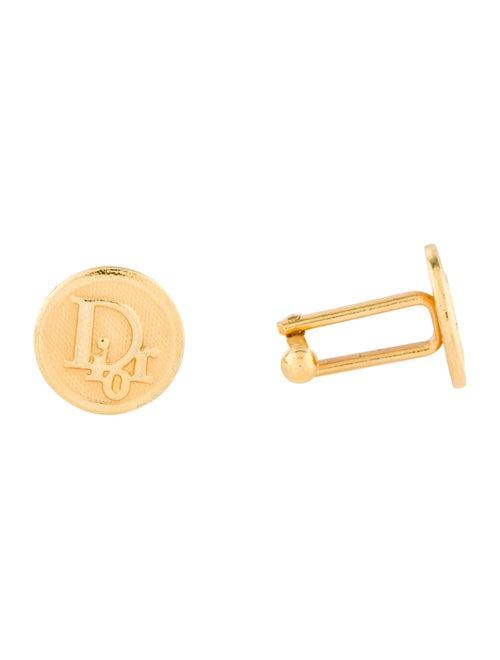 Christian Dior Logo Cufflinks Gold