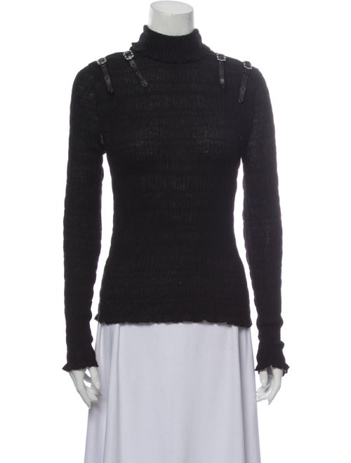 Christian Dior Cashmere Turtleneck Sweater Black