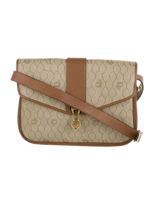 Christian Dior Vintage Honeycomb Crossbody Bag Gol
