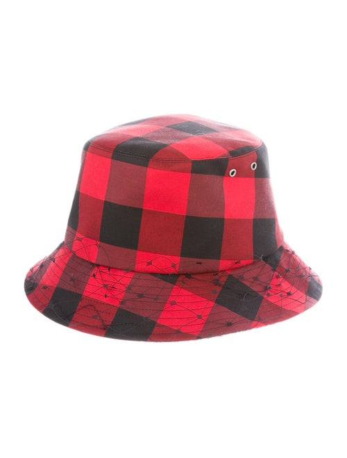 Christian Dior Plaid Bucket Hat Black
