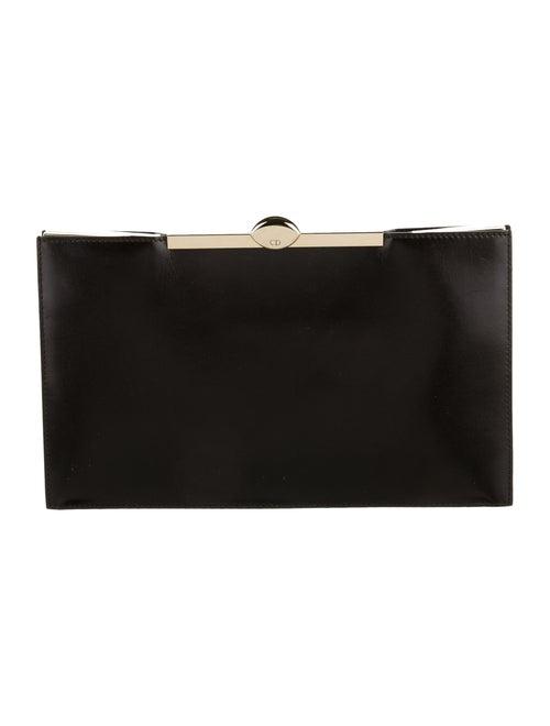 Christian Dior Leather Frame Clutch Black
