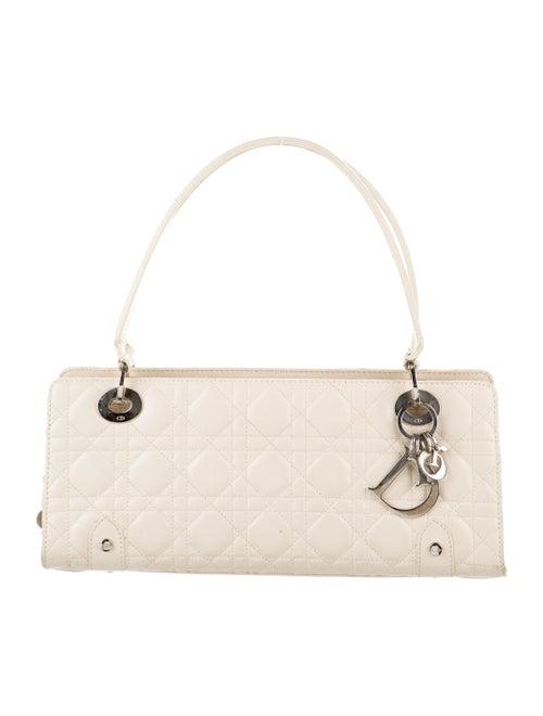 Christian Dior E/W Lady Dior Cannage Bag Silver