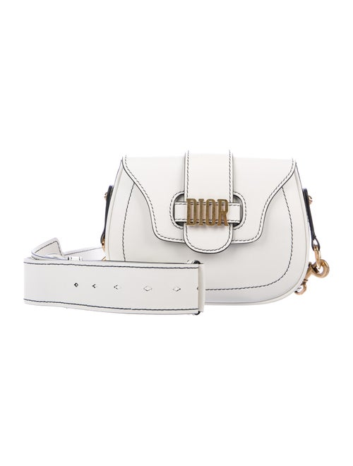 Christian Dior D-Fence Saddle Bag White