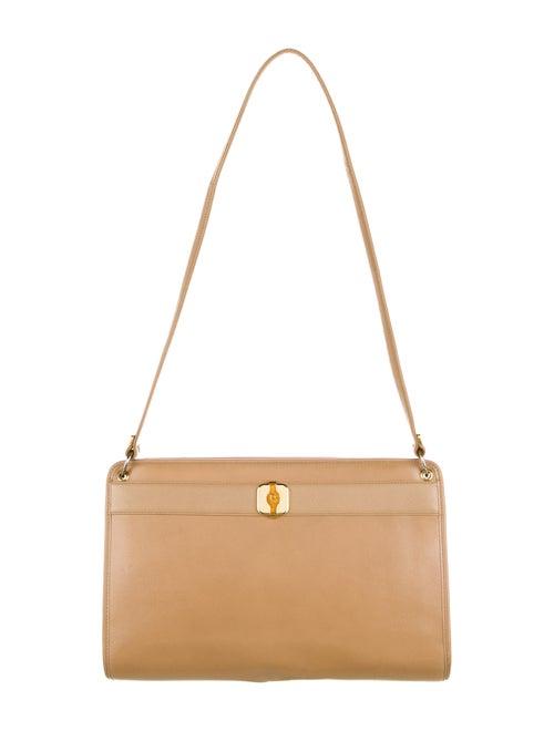 Christian Dior Vintage Leather Shoulder Bag Gold