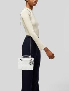 Christian Dior Mini Lady Dior Bag w/Strap