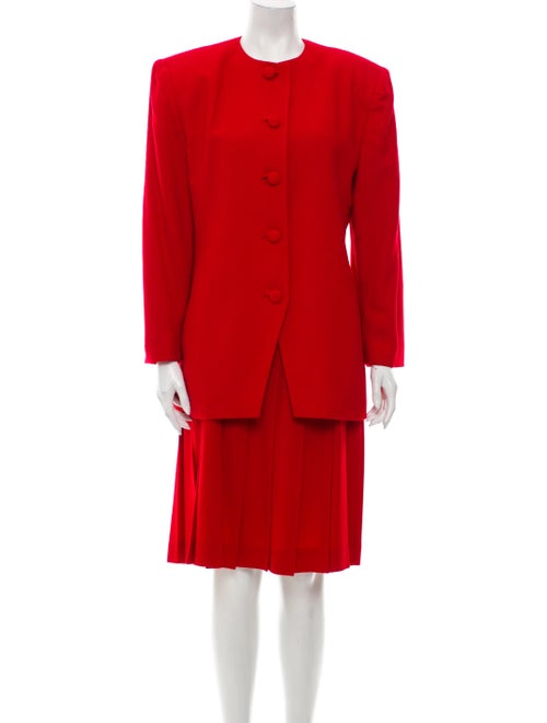 Christian Dior Wool Skirt Suit Wool