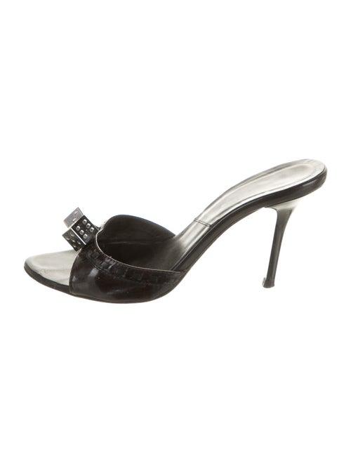 Christian Dior Leather Slides Black