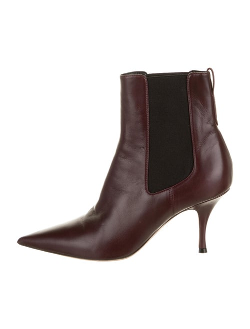 Christian Dior Leather Chelsea Boots Purple
