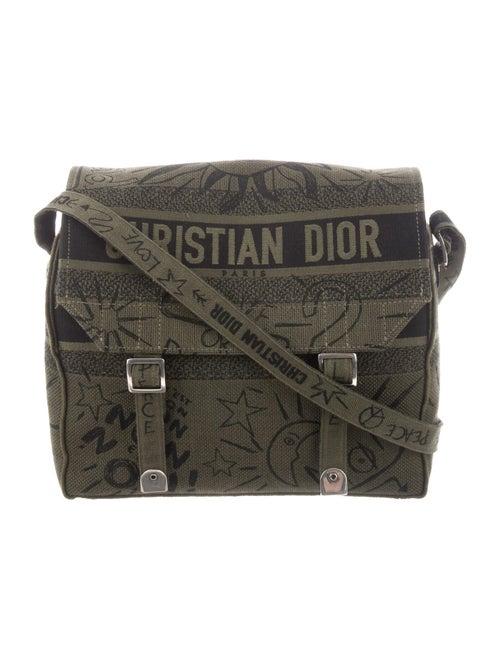 Christian Dior 2019 Diorcamp Messenger Bag Green