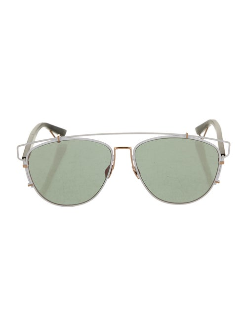 Christian Dior Technologie Aviator Sunglasses Whit