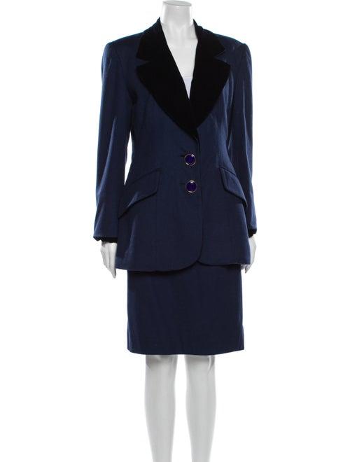 Christian Dior Vintage Wool Skirt Suit Wool