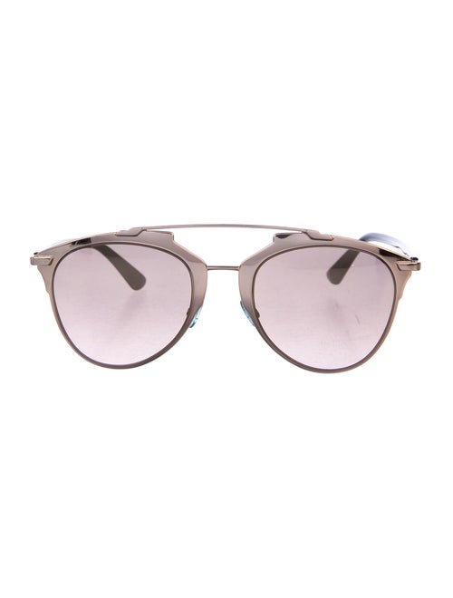 Christian Dior Reflected Aviator Sunglasses Silver