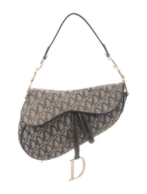 Christian Dior Diorissimo Saddle Bag Grey