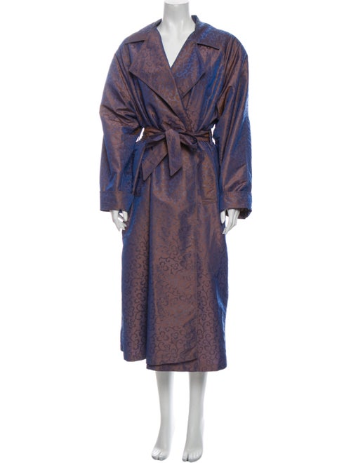 Christian Dior Vintage Printed Trench Coat Purple
