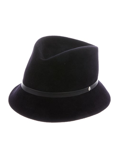 Christian Dior Rabbit Felt Hat Black