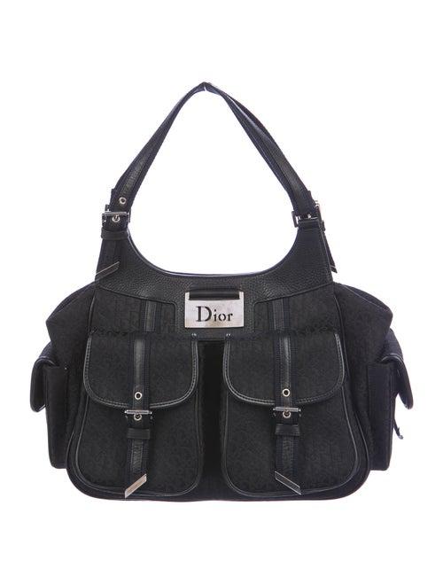 Christian Dior Diorissimo Cargo Hobo Bag Black