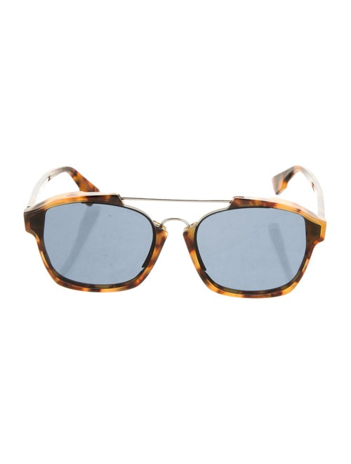 Christian Dior Abstract Square Sunglasses Brown