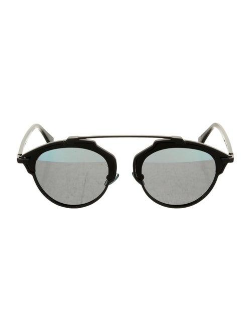 Christian Dior SoReal Round Sunglasses Black
