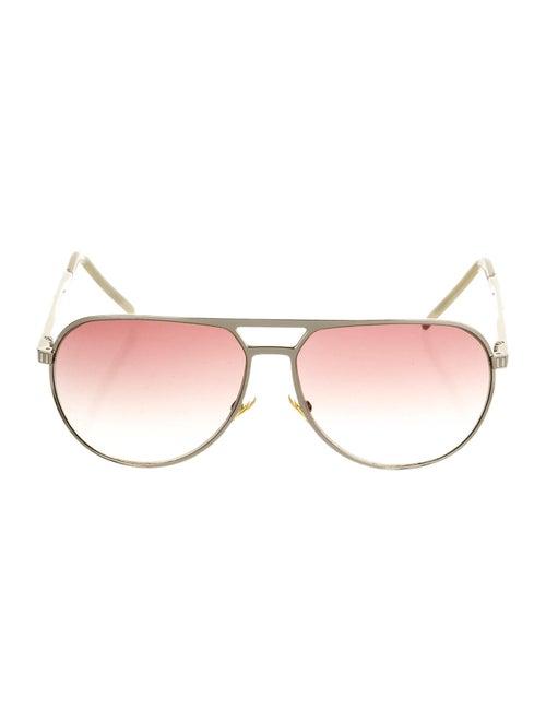 Christian Dior Christal Aviator Sunglasses Silver