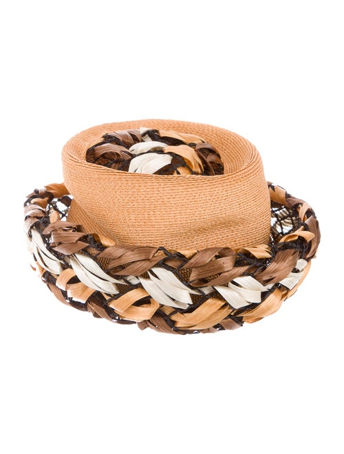 Christian Dior Straw Bucket Hat Tan
