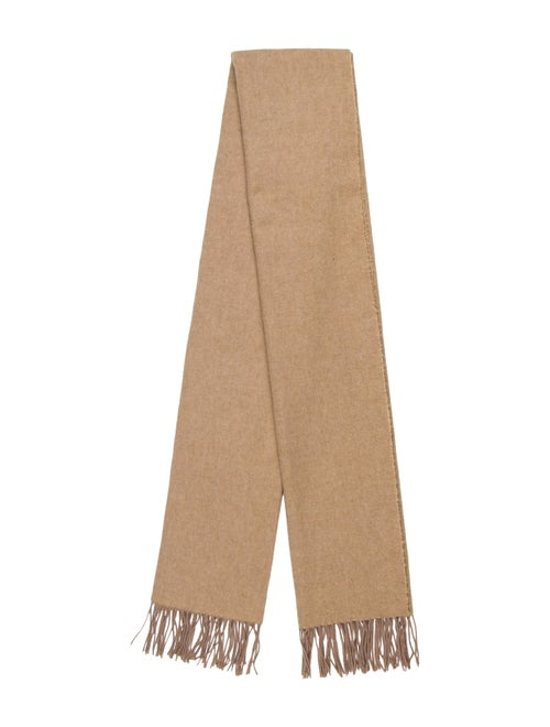 Christian Dior Cashmere Fringe Scarf tan