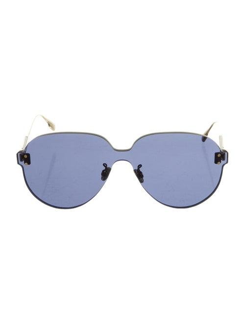 Christian Dior ColorQuake Aviator Sunglasses Gold