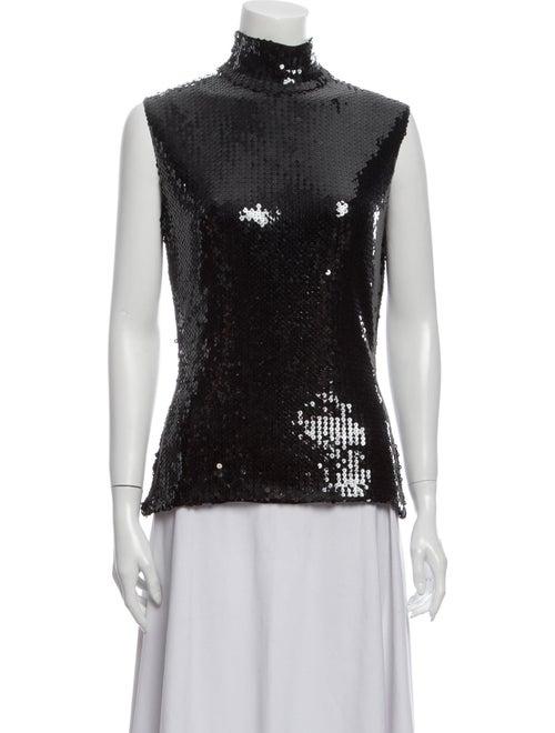 Christian Dior Turtleneck Sleeveless Top Black