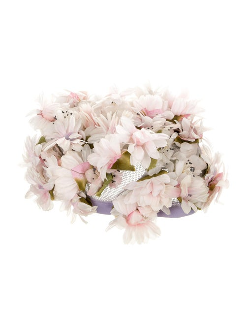 Christian Dior Dior Floral Woven Cap Pink