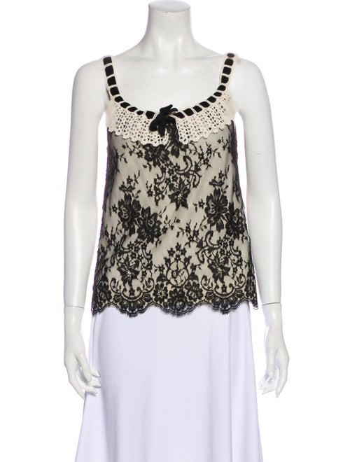 Christian Dior Wool Lace Pattern Top Wool