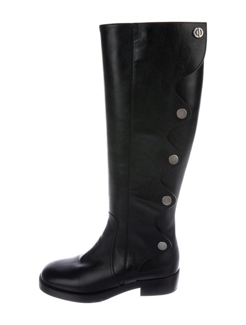 Christian Dior Diorodeo Leather Riding Boots Black
