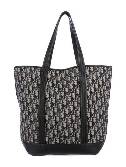 Christian Dior Oblique Tote Bag Silver