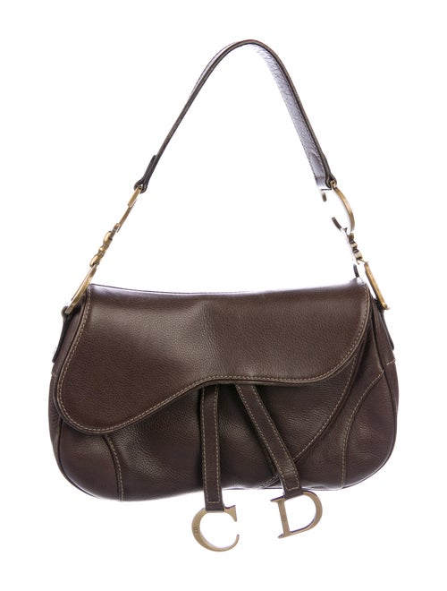 Christian Dior Vintage Saddle Bag Brown