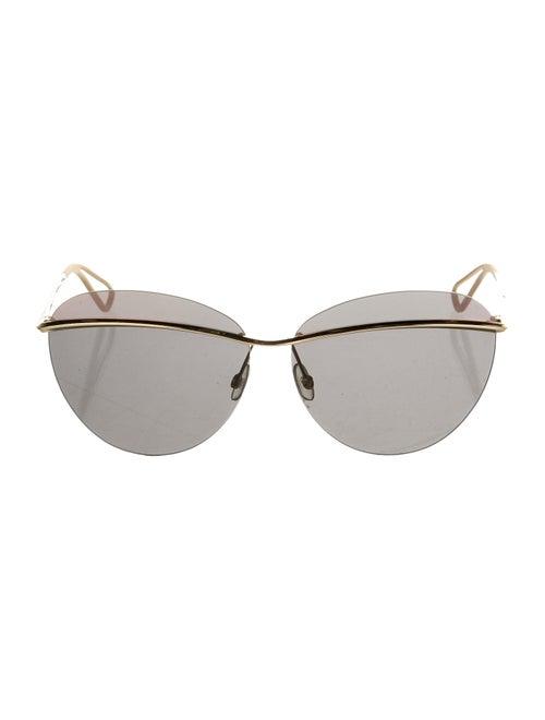 Christian Dior Rimless sunglasses Gold