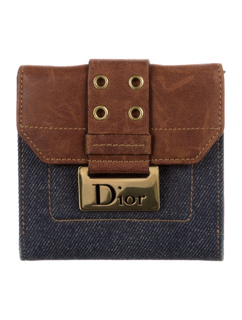 Christian Dior Street Chic Compact Wallet Blue