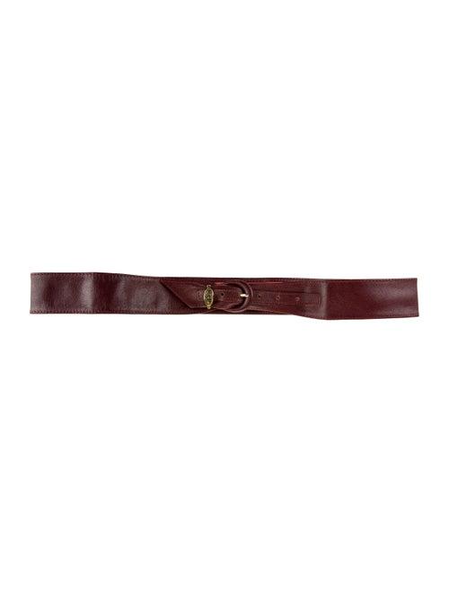 Christian Dior Leather Belt Gold