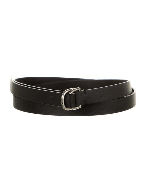 Christian Dior Leather Belt Black