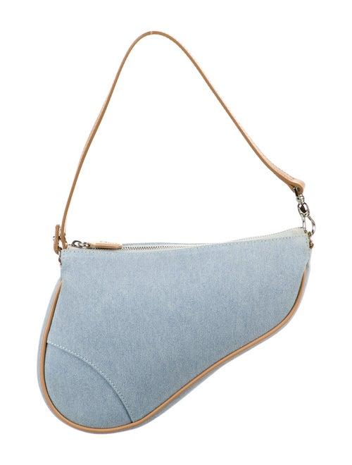 Christian Dior Vintage Denim Saddle Pochette Blue