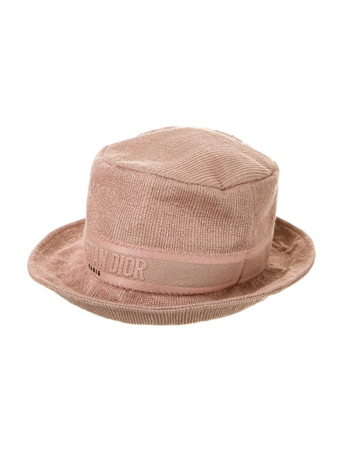 Christian Dior Logo Bucket Hat w/ Tags Mauve