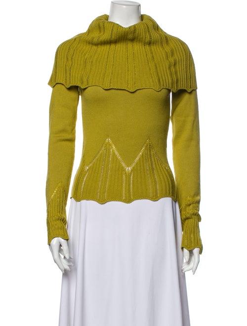 Christian Dior Vintage Turtleneck Sweater Green