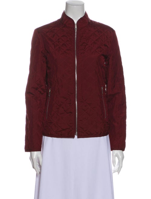 Christian Dior Silk Bomber Jacket Red - image 1