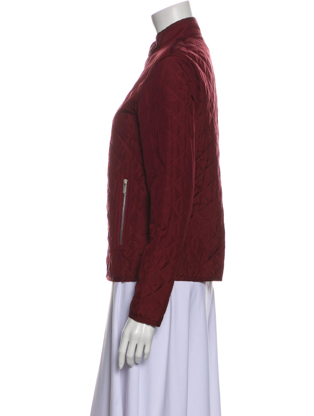 Christian Dior Silk Bomber Jacket Red - image 2