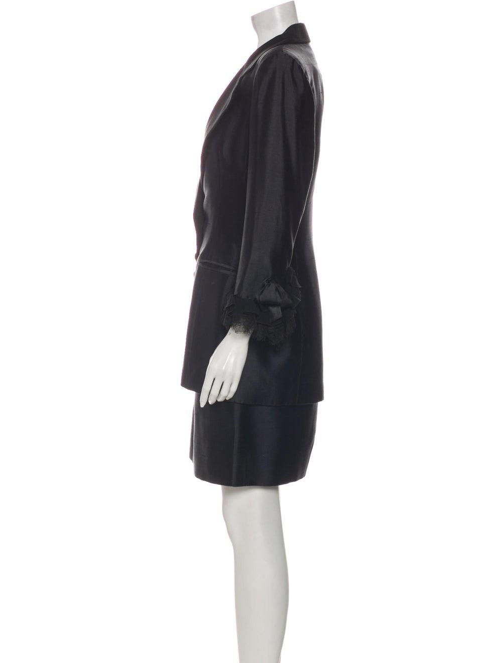 Christian Dior Vintage 1980's Skirt Suit Black - image 2