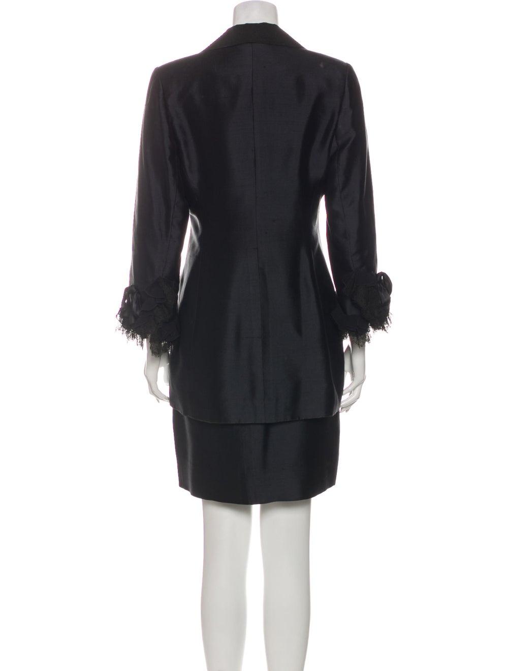 Christian Dior Vintage 1980's Skirt Suit Black - image 3