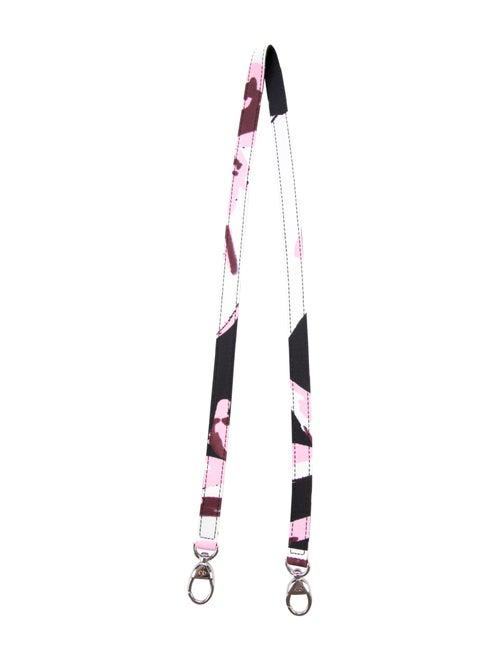 Christian Dior Canvas Printed Shoulder Strap Pink
