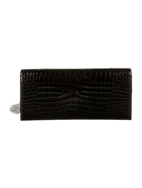 Christian Dior Lady Dior Crocodile Clutch Brown