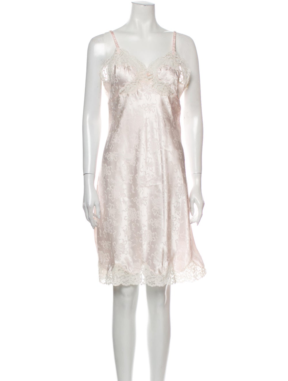 Christian Dior Vintage Floral Print Nightgown Pink - image 1