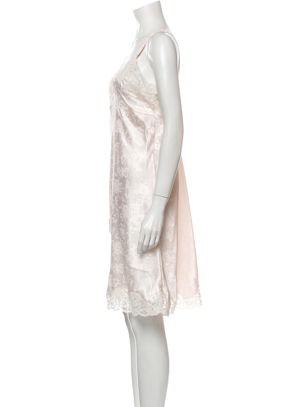 Christian Dior Vintage Floral Print Nightgown Pink - image 2